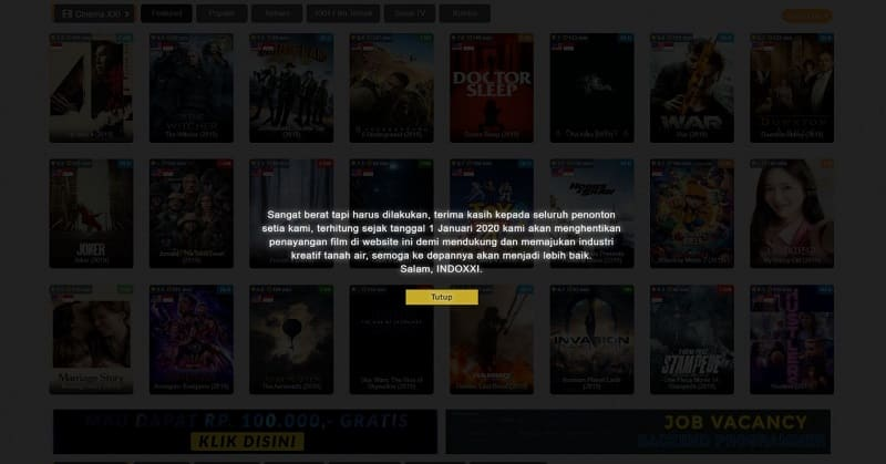 IndoXXI Tutup, Ini Daftar Web Streaming Film Gratis