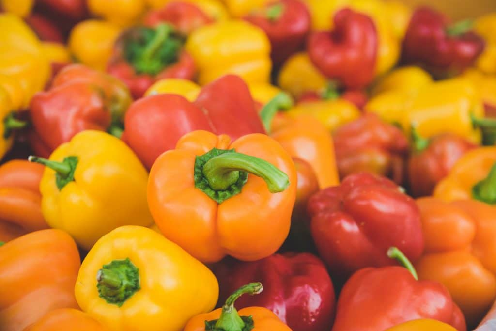Red peppers have a high vitamin C content