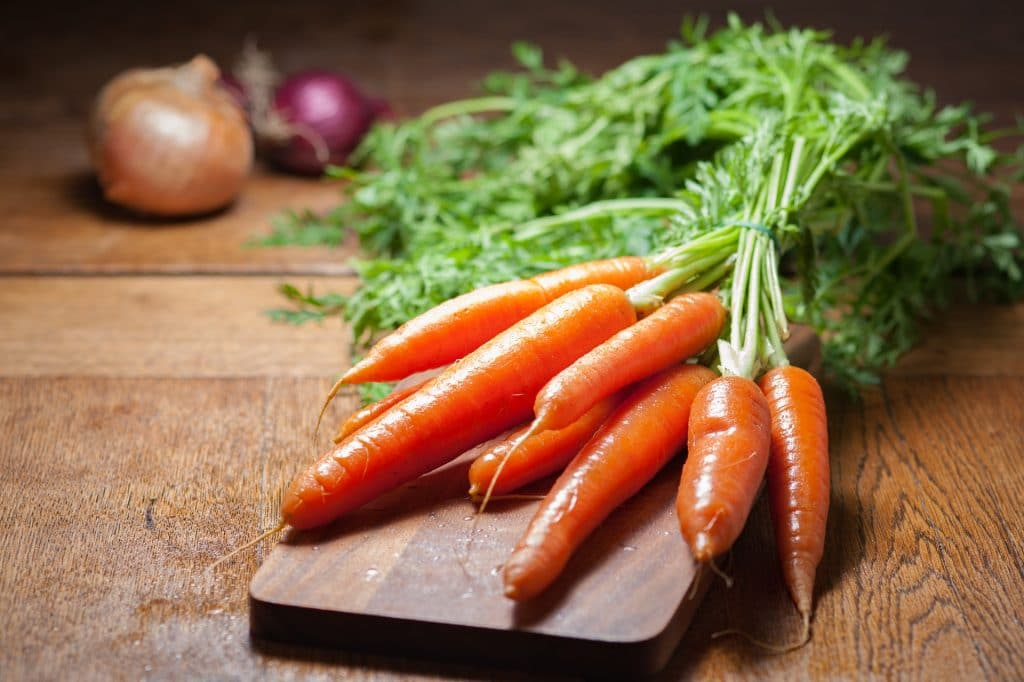 Vitamin A in carrots is also good for the immune system