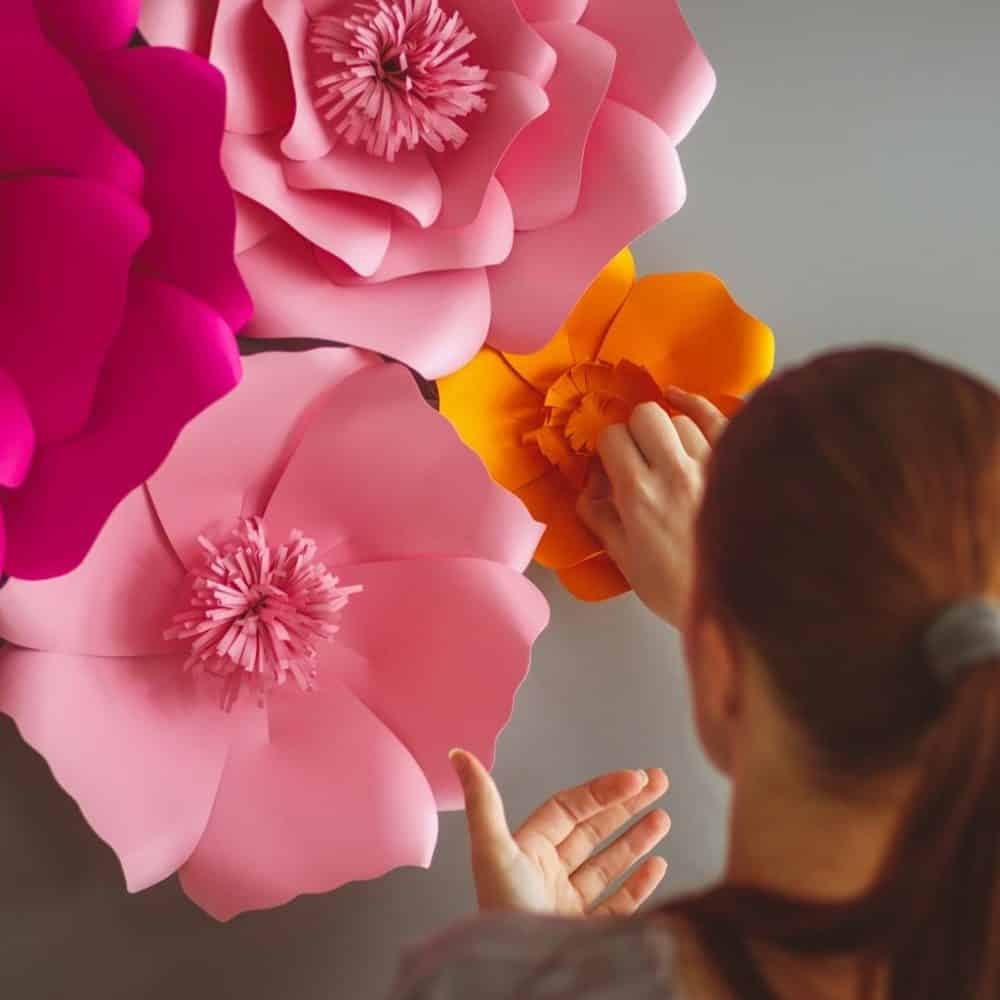 Paper Flower Decoration in Dindin