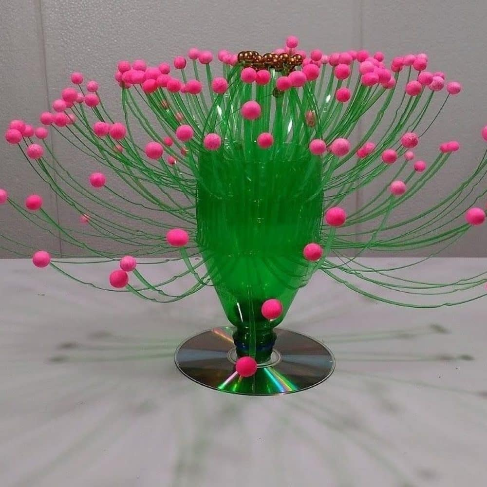 Flower Decoration with Recycled Materials