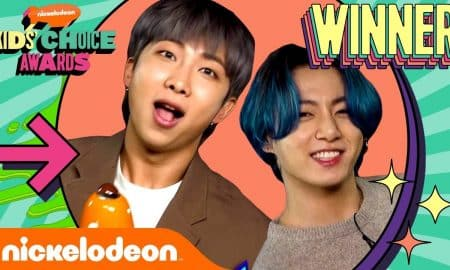 Cool and Accomplished, BTS Brings Kids' Choice Awards Trophy 2021!